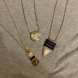 Lot of 3 long necklaces marble
